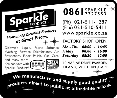 Sparkle Products In Paarden Eiland Western Cape The A Z