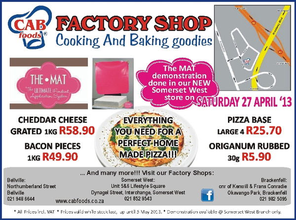 Cab Foods Factory Shop Weekend Specials Cooking Baking